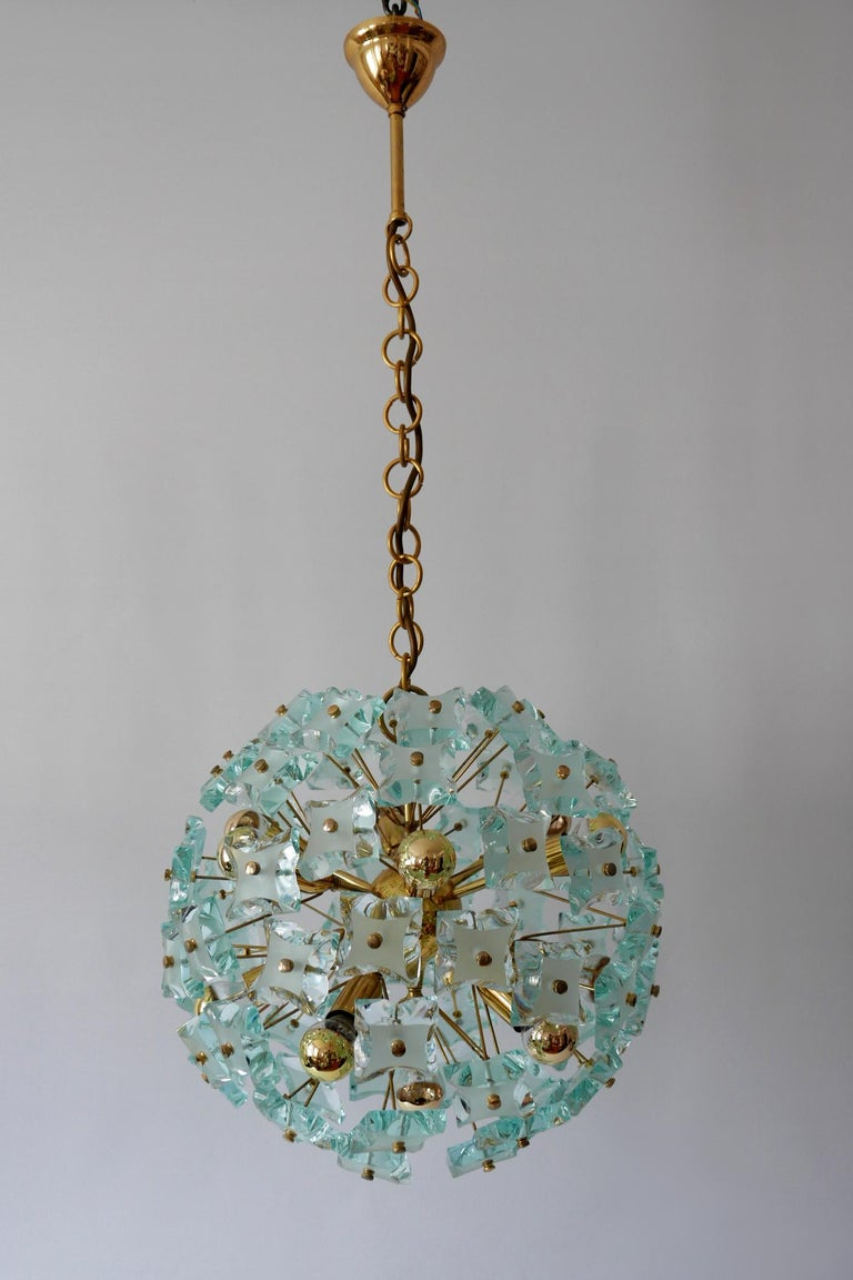 Mid-Century Modern 13-Flamed Sputnik Chandelier or Pendant Lamp Dandelion, 1960s For Sale 10