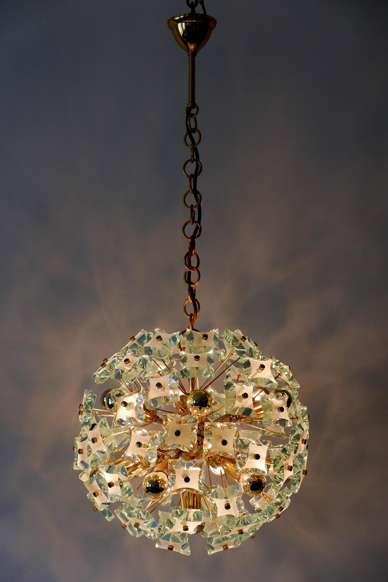 Mid-20th Century Mid-Century Modern 13-Flamed Sputnik Chandelier or Pendant Lamp Dandelion, 1960s For Sale