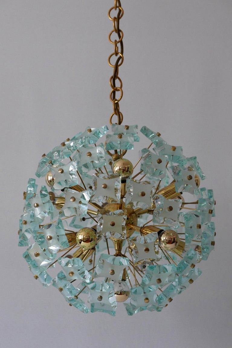 Mid-Century Modern 13-Flamed Sputnik Chandelier or Pendant Lamp Dandelion, 1960s For Sale 1