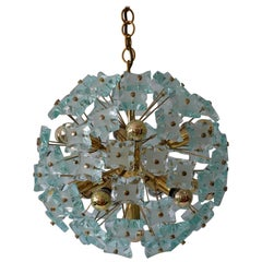 Mid-Century Modern 13-Flamed Sputnik Chandelier or Pendant Lamp Dandelion, 1960s
