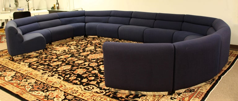 Mid Century Modern 14 Piece Modular Chicklet Sectional