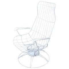 Mid-Century Modern 1950s Homecrest Riviera Siesta Swivel Rocker Lounge Chairs