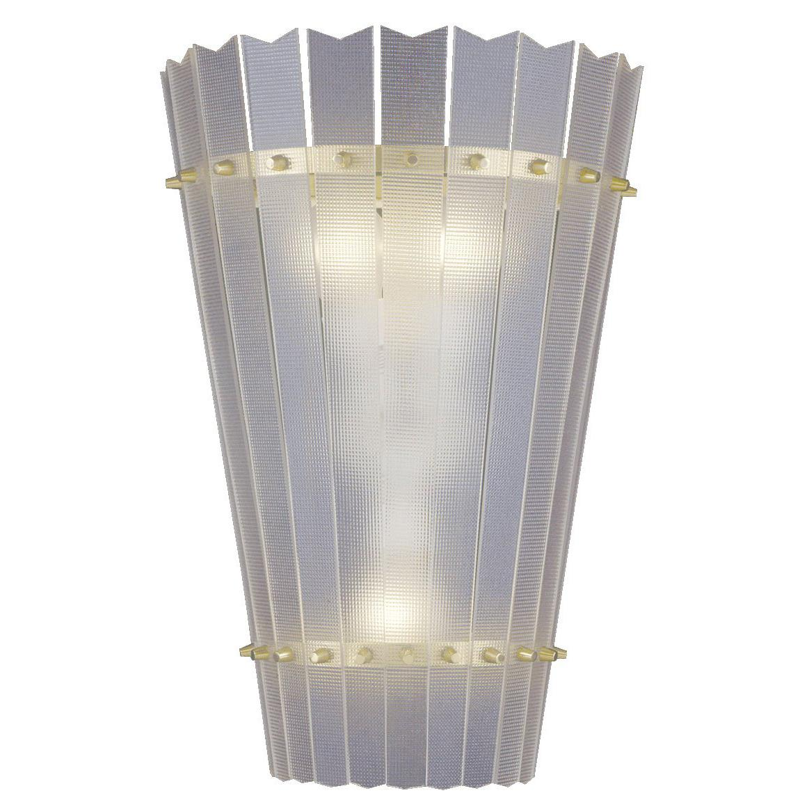 """Mid-Century Modern  Wall Light with acrylic Shade """"Aphrodite"""" - re edition"""