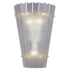 "Mid-Century Modern 1960s Wall Light with acrylic Shade ""Aphrodite"""