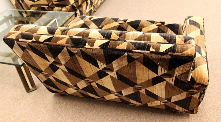 American Mid-Century Modern 2-Piece Sectional Sofa Brass Baughman Lenor Larsen Style For Sale