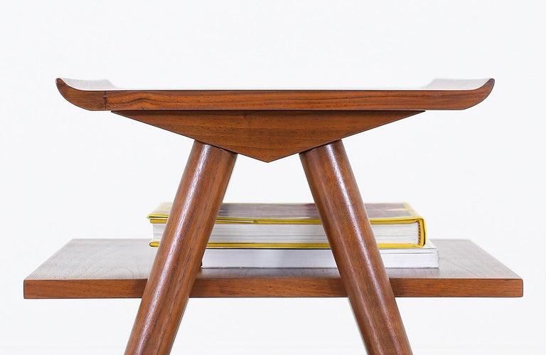 Mid-20th Century Mid-Century Modern 3-Tier Side Table by Merton Gershun