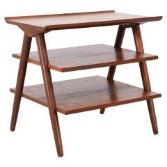 Mid-Century Modern 3-Tier Side Table by Merton Gershun