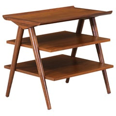Mid-Century Modern 3-Tier Side Table by Merton Gershun