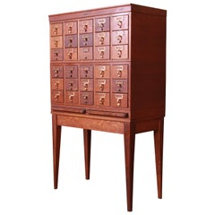 Mid-Century Modern 30-Drawer Oak Library Card Catalog by Gaylord Bros.