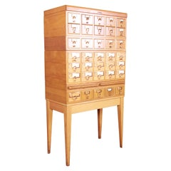 Mid-Century Modern 35-Drawer Library Card Catalog by Remington Rand