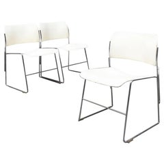 Mid-Century Modern 40\4 White Chairs by David Rowland for GF Furniture, 1963