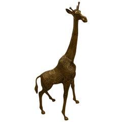 Mid-Century Modern Standing Metal Giraffe