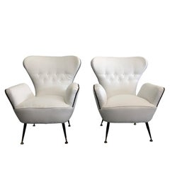Mid-Century Modern a Pair of Paolo Buffa Lounge Chairs