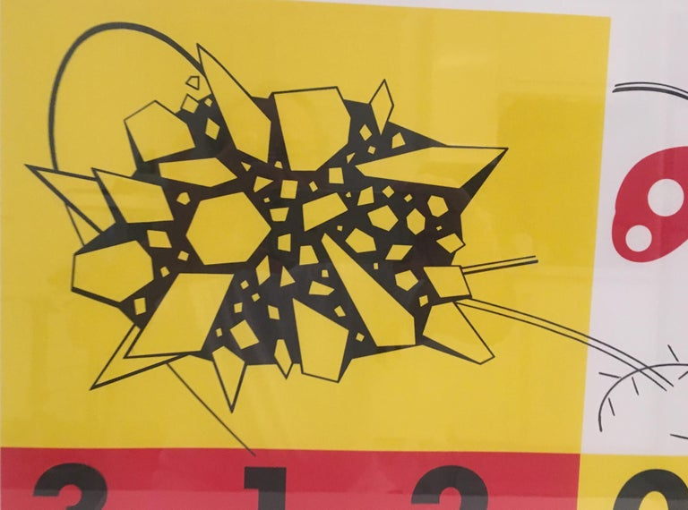 Mid Century Modern Abstract Art Lithograph Signed Aki Kimoto In Good Condition For Sale In Arles, FR