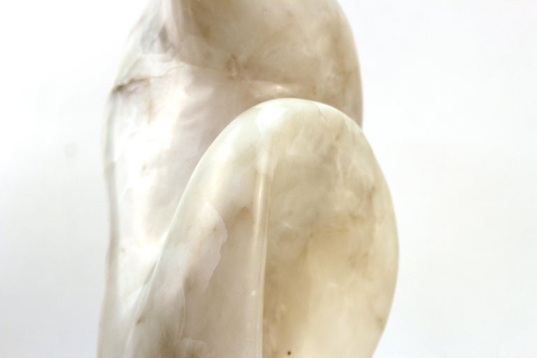 Mid-Century Modern Abstract Biomorphic Marble Sculpture For Sale 6