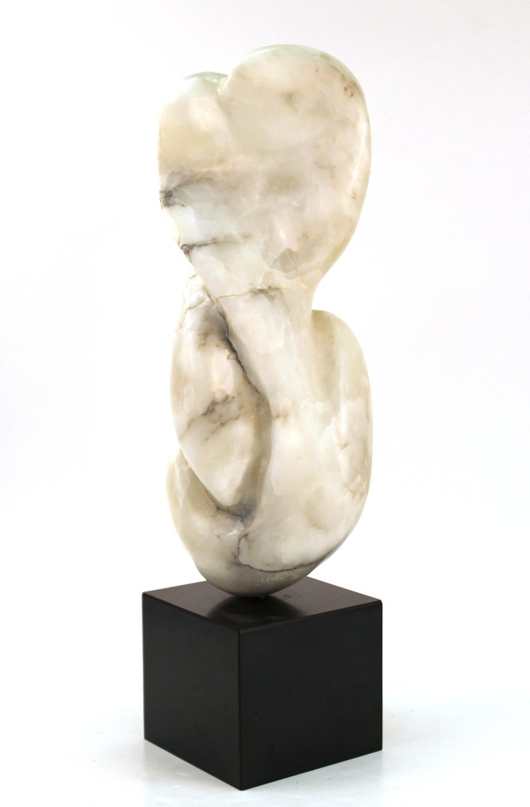 Late 20th Century Mid-Century Modern Abstract Biomorphic Marble Sculpture For Sale