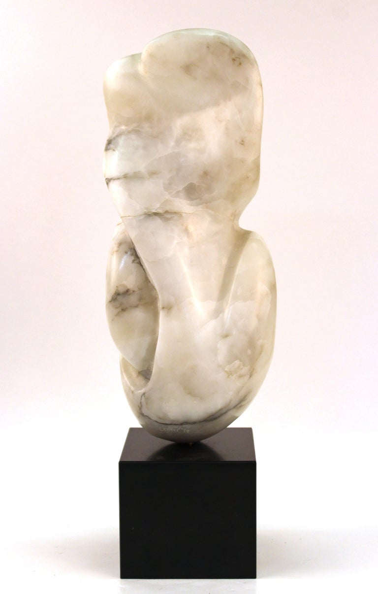 Mid-Century Modern Abstract Biomorphic Marble Sculpture For Sale 1