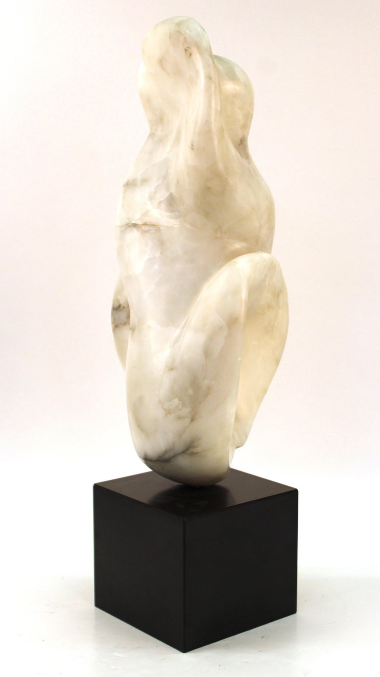 Mid-Century Modern Abstract Biomorphic Marble Sculpture For Sale 3