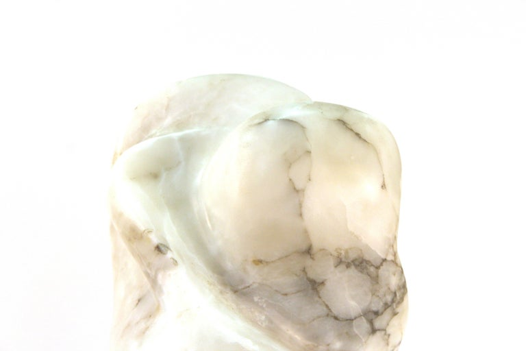 Mid-Century Modern Abstract Biomorphic Marble Sculpture For Sale 4