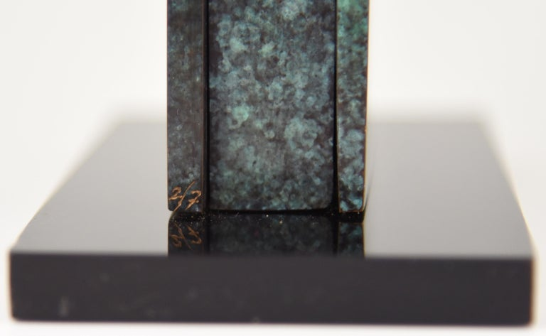 Mid-Century Modern Abstract Bronze Sculpture 1970 Felix Villamor For Sale 6