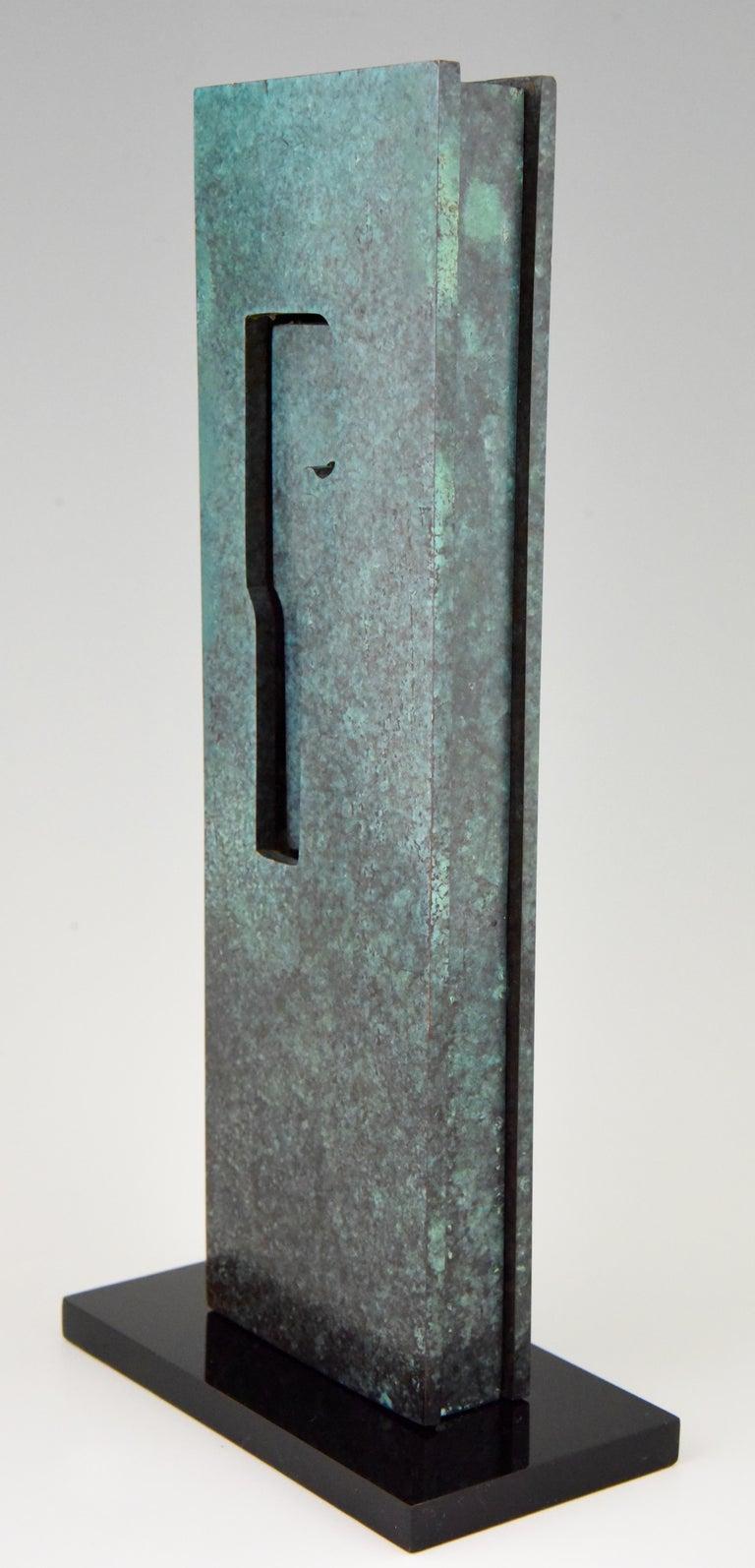 Mid-Century Modern Abstract Bronze Sculpture 1970 Felix Villamor For Sale 2