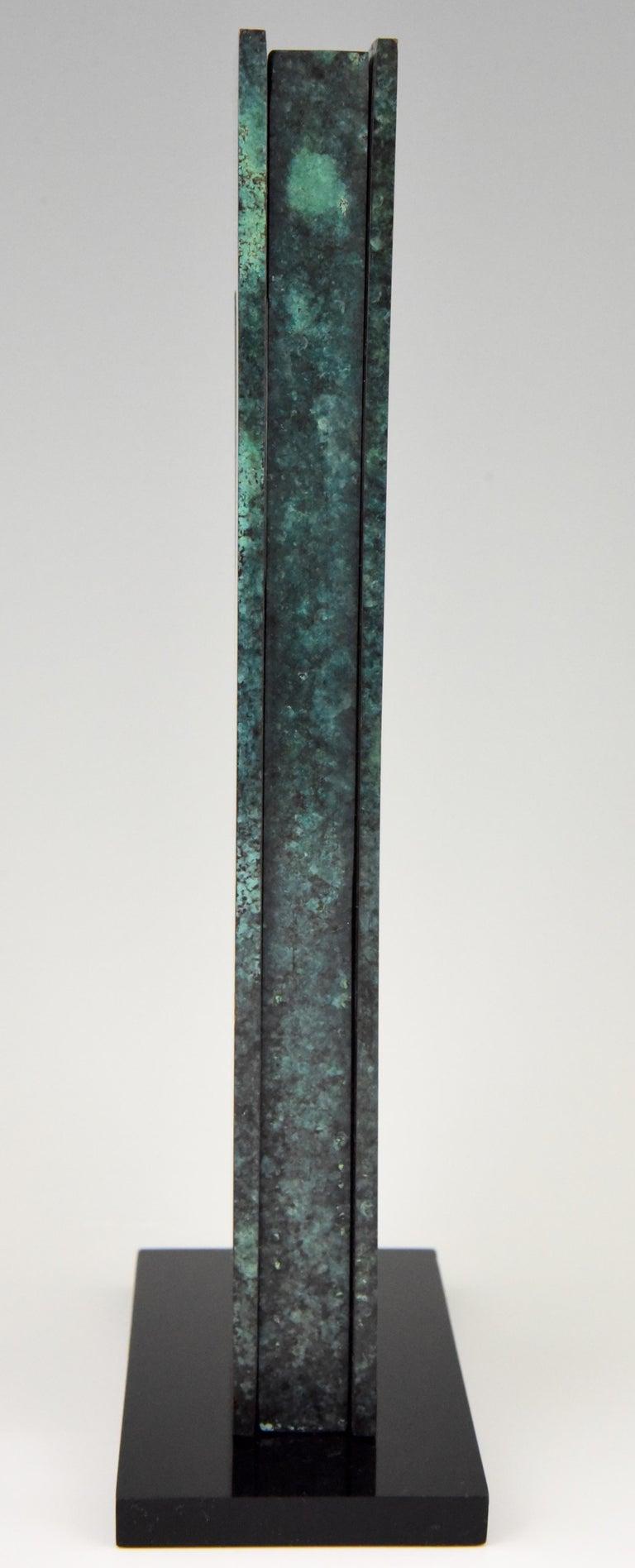 Mid-Century Modern Abstract Bronze Sculpture 1970 Felix Villamor For Sale 3
