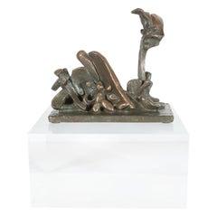"Mid-Century Modern Abstract Bronze Sculpture, ""Garden of Eden"" by Jim Moore"