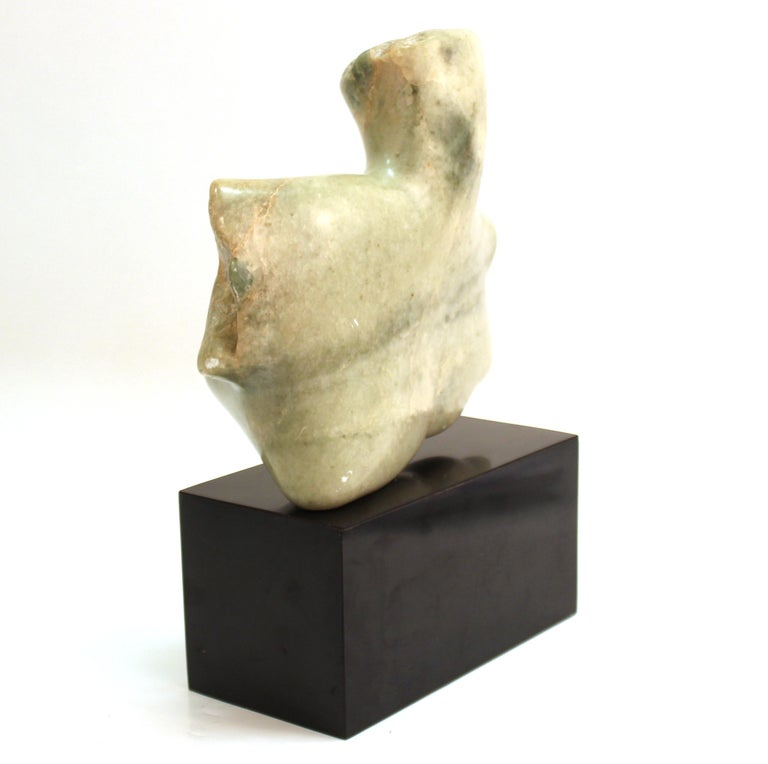 Mid-Century Modern Abstract Carved Stone Female Bust Sculpture For Sale 1