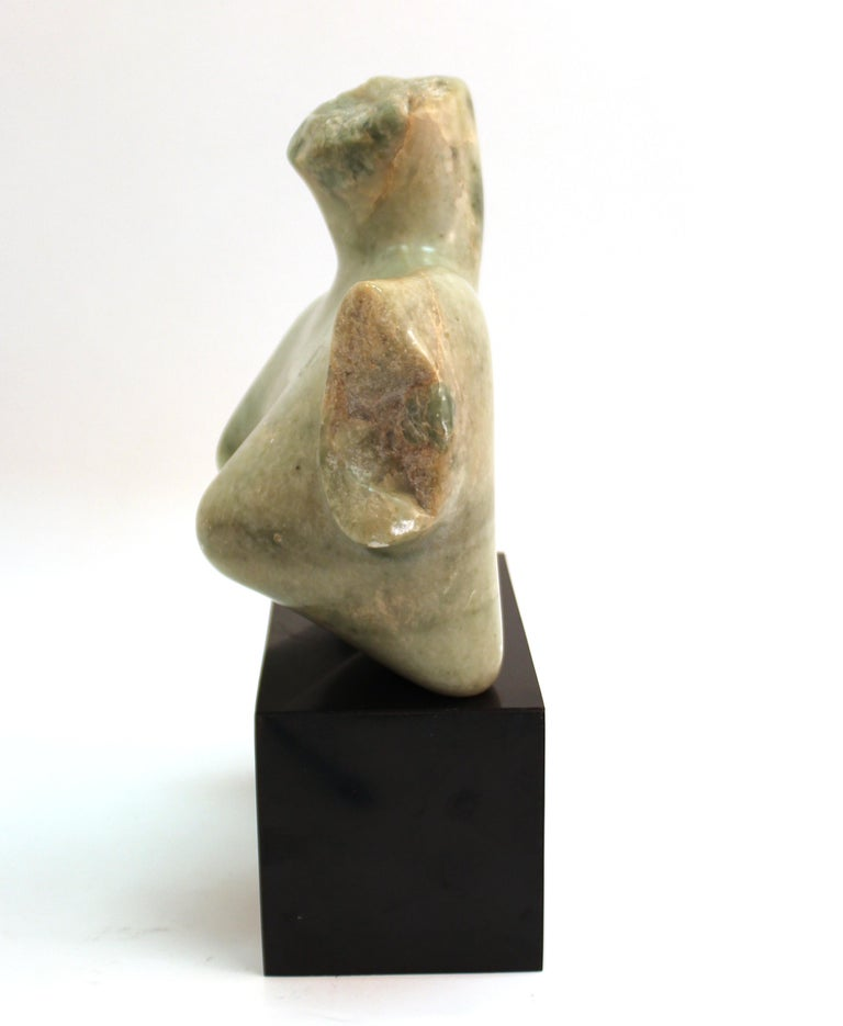 Mid-Century Modern Abstract Carved Stone Female Bust Sculpture For Sale 2
