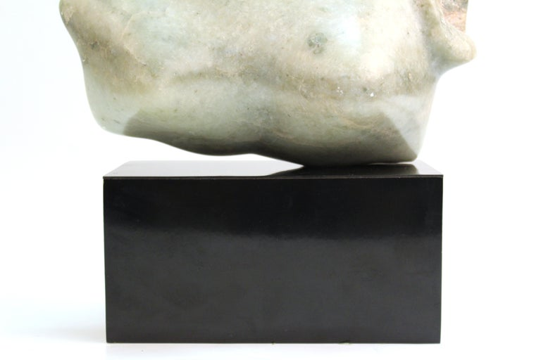 Mid-Century Modern Abstract Carved Stone Female Bust Sculpture For Sale 5