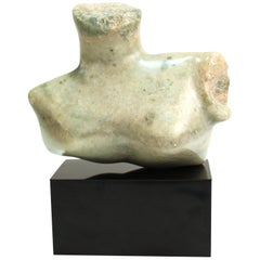 Mid-Century Modern Abstract Carved Stone Female Bust Sculpture
