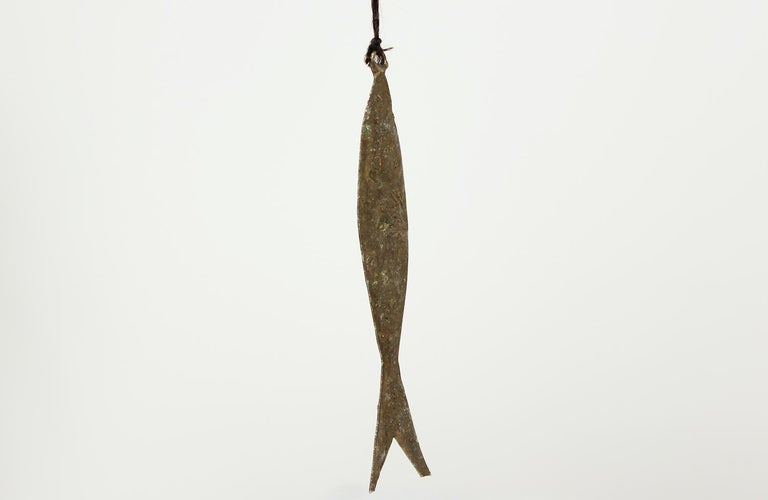 Mid-20th Century Mid-Century Modern Abstract Fisherman Sculpture For Sale