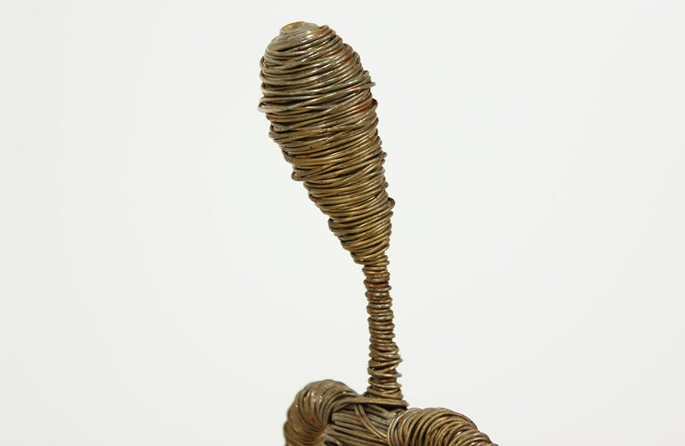 Mid-Century Modern Abstract Fisherman Sculpture For Sale 1