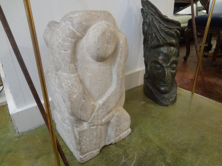 Mid-Century Modern Abstract Granite Sculpture In Good Condition For Sale In Houston, TX