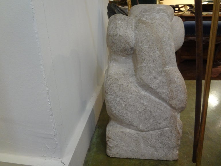 Mid-20th Century Mid-Century Modern Abstract Granite Sculpture For Sale