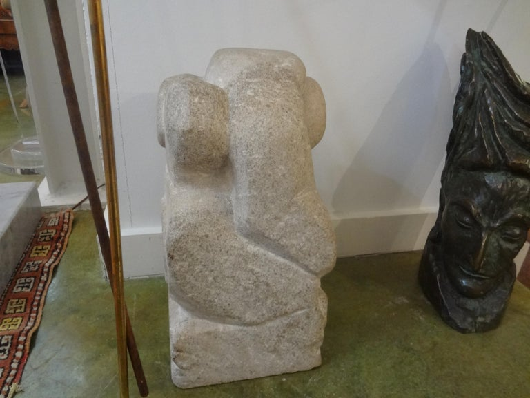 Mid-Century Modern Abstract Granite Sculpture For Sale 3
