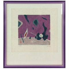 Henri Goetz Abstract Composition Signed Lithograph, circa 1960s