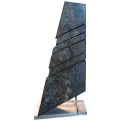 Mid-Century Modern Abstract Marble Sculpture