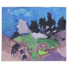 """Mid-Century Modern Abstract Oil on Canvas """"Kokee"""""""