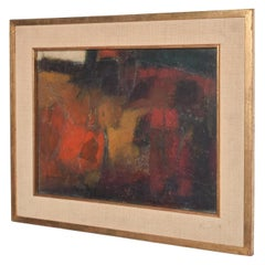 Mid-Century Modern Abstract Oil Painting Art after Leonardo Nierman
