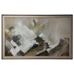 Mid-Century Modern Abstract Painting by Efland
