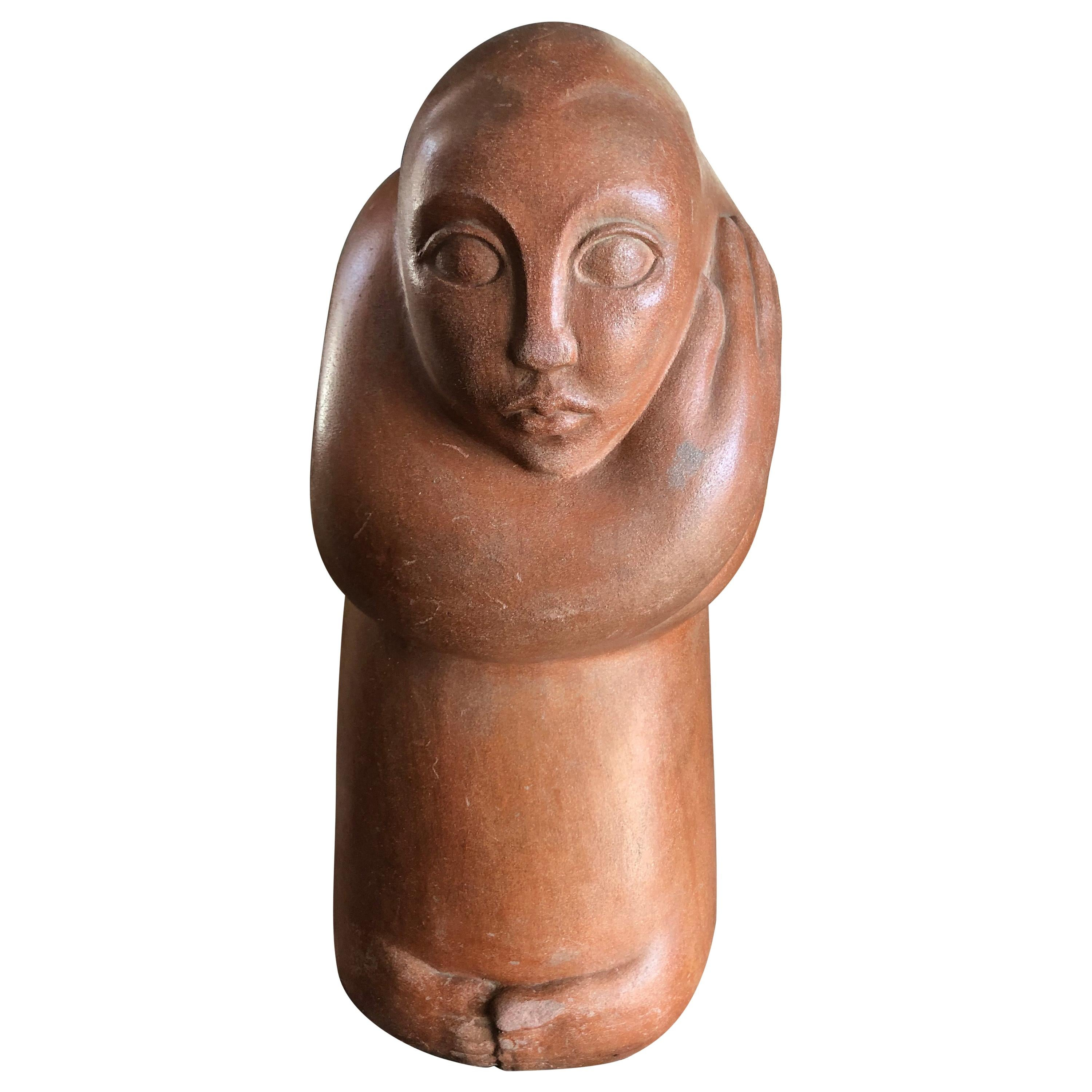 Mid-Century Modern Abstract Statue of a Woman