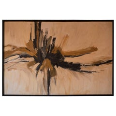 Mid-Century Modern Abstract Wall Art Painting
