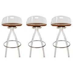 Mid-Century Modern Acrylic Lucite Counter Stools or Bar Stools by Hill Mfg.