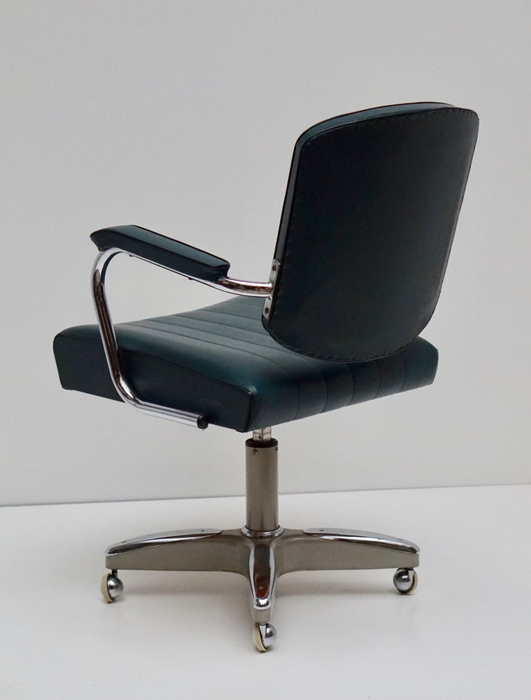 Mid-Century Modern Adjustable Armchair Rolling Swivel For ...
