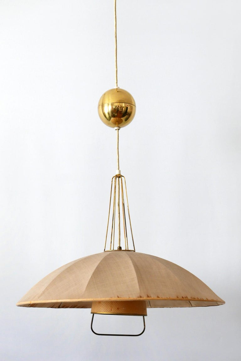 Mid-Century Modern Adjustable Counterweight Pendant Lamp or Hanging Light, 1950s For Sale 4