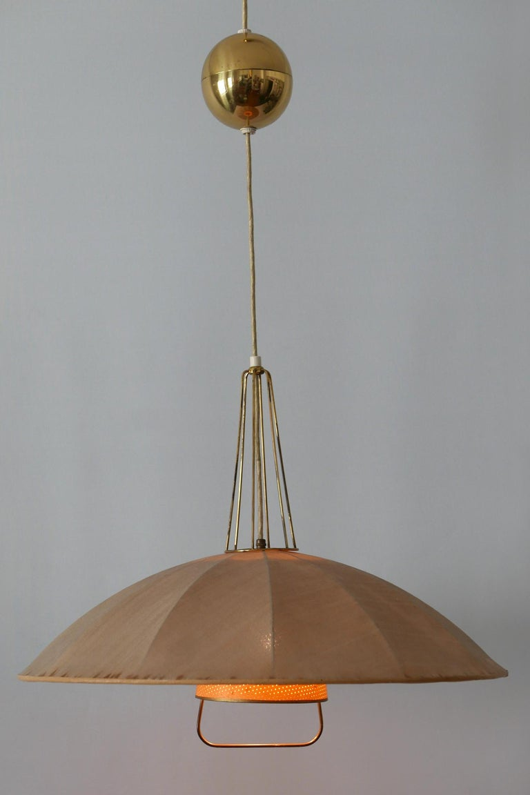 Mid-Century Modern Adjustable Counterweight Pendant Lamp or Hanging Light, 1950s For Sale 5