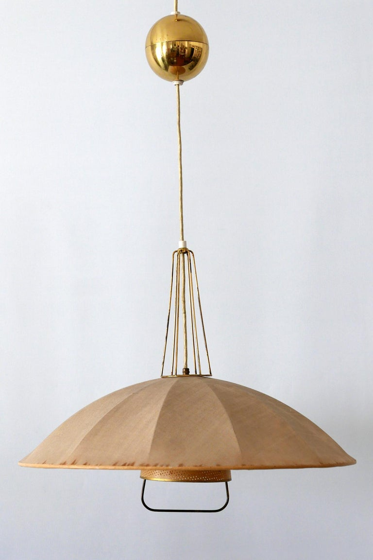 Mid-Century Modern Adjustable Counterweight Pendant Lamp or Hanging Light, 1950s For Sale 6