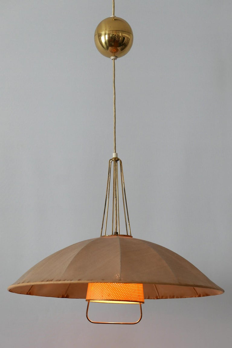 Mid-Century Modern Adjustable Counterweight Pendant Lamp or Hanging Light, 1950s For Sale 7