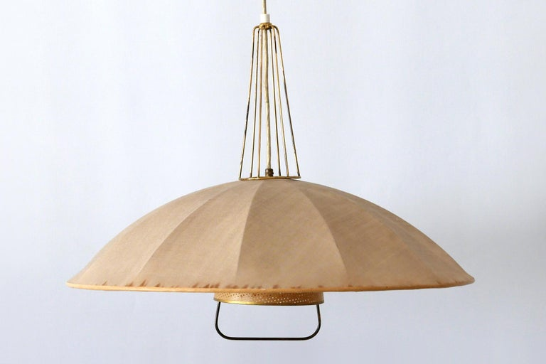 Mid-Century Modern Adjustable Counterweight Pendant Lamp or Hanging Light, 1950s For Sale 8